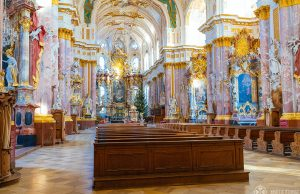 Baroque splendor inside the Fürstenfeld Abbey near Munich, Germany