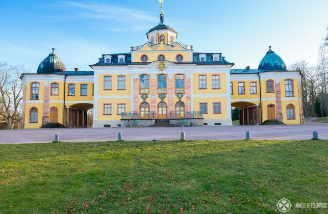The front of the Belvedere palace in Weimar