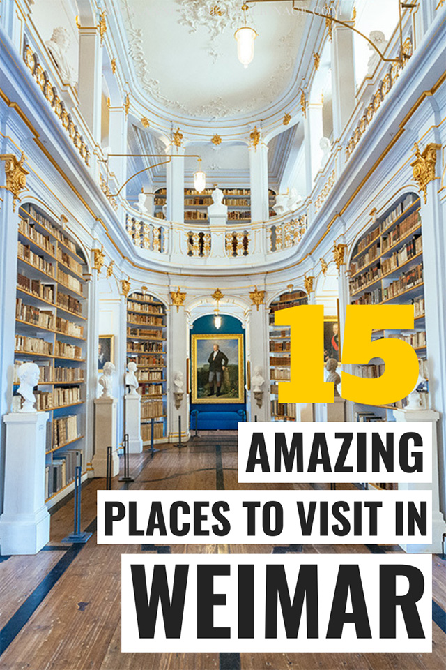 15 best things to do in Weimar. A detailed Weimar travel guide with all the most important tourist attractions and UNESCO World Heritage sites in Weimar.