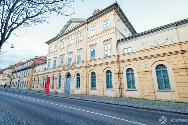 The Stadtmuseum (city mueseum) in Weimar