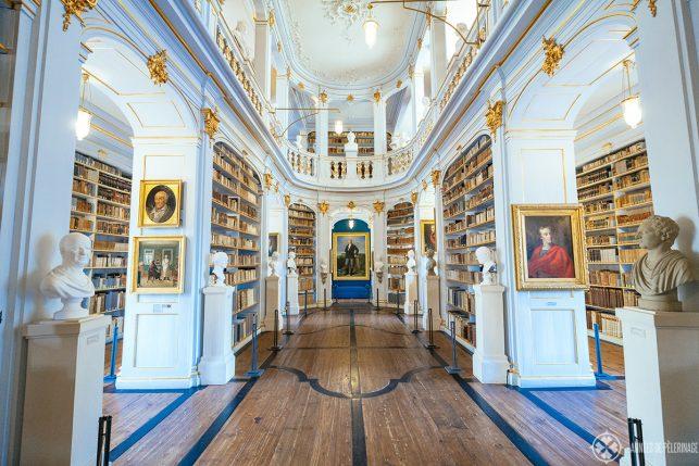 Inside the Duchess Anna Amalia Library in Weimar