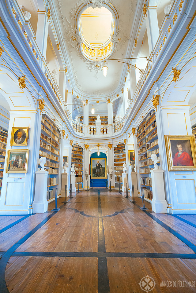 Full interior of the duchess anna amalia library in weimar