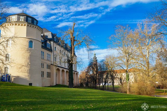 The duchess anna amalia library in Weimar from outside
