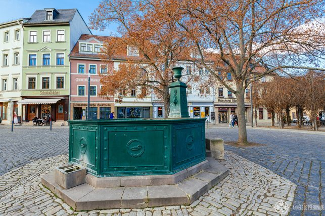 A fountain in the old town of Weimar