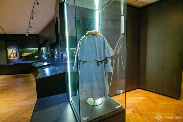Goethe's travel coat in the Goethe Museum in Weimar