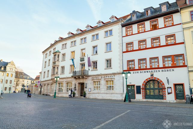 The Hotel Elephant on Weimar's main square