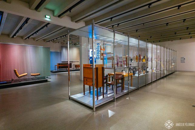 Inside the Bauhaus museum in Weimar
