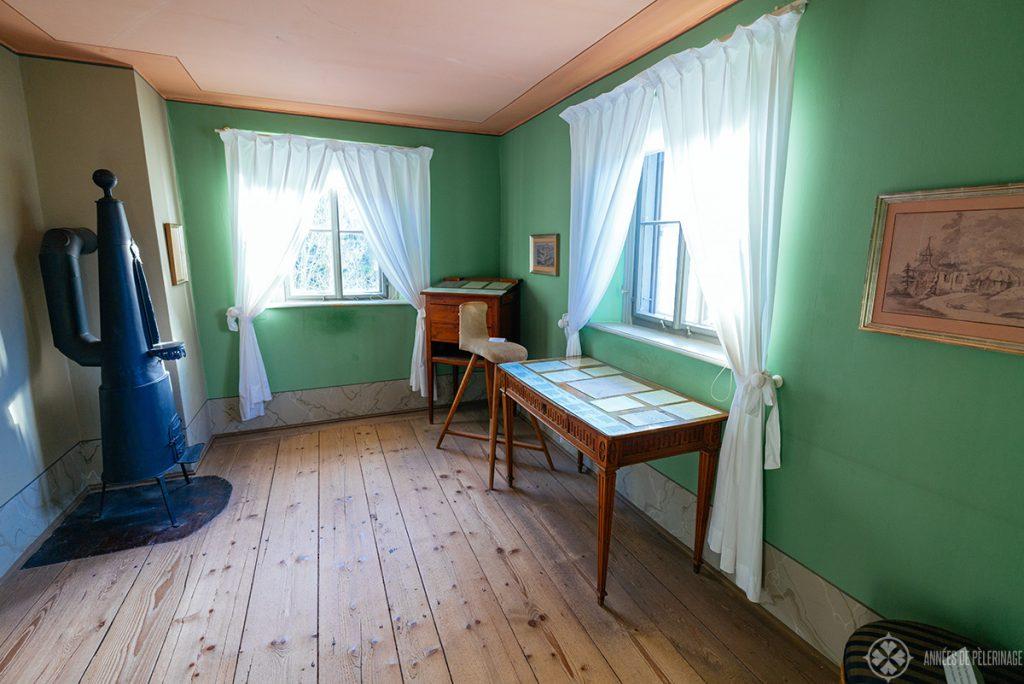 The study inside Goethe's Garden house in Weimar