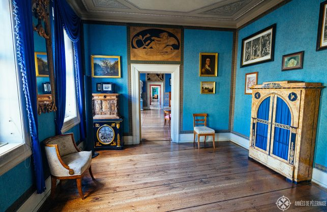 Inside the goethe house in Weimar