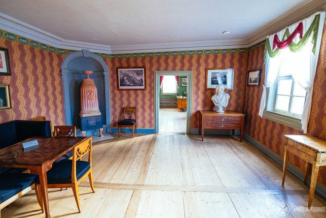 Inside the Schiller House in Weimar