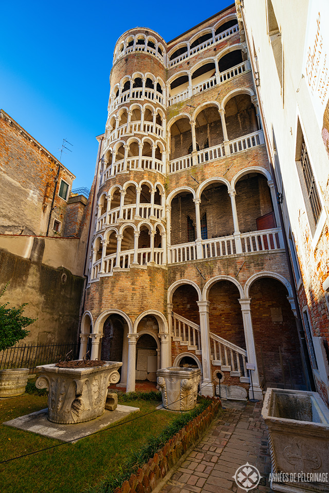 The renaissance snail staircase of the Palazzo Contrarini del Bovolo