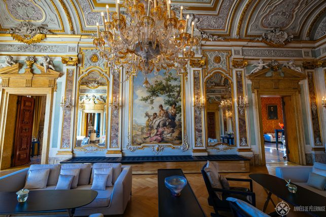 the ballroom on the second floor of Aman Venice