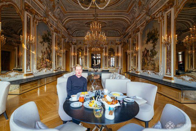 me enjoying breakfast at AMan Venice