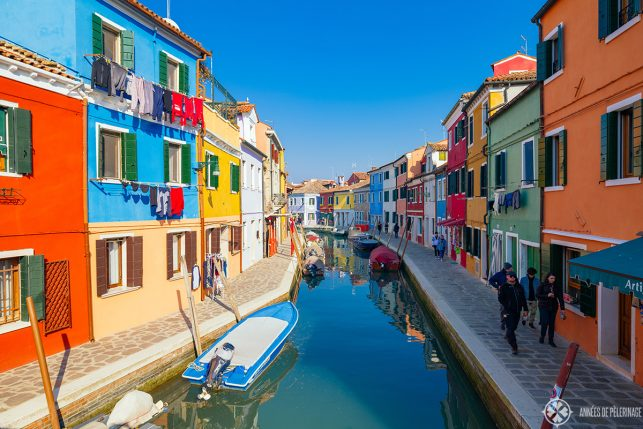 Incredibly colorful houses on the island of Burano near Venice