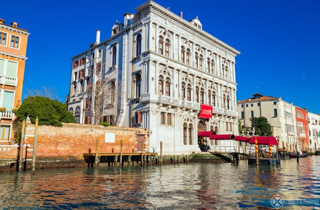The palace of the Casino di Venezia at the Grand Canal