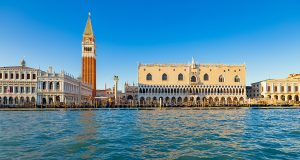 The Doge's Palace and St. Mark's square fron the water