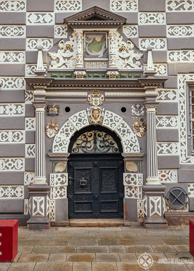 Beautiful marble door in Erfurt