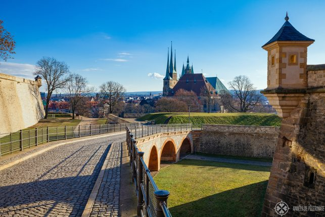 The view from the Petersberg citadel of Erfurt
