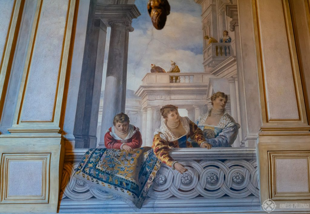 Fresco details of the Aman Venice hotel