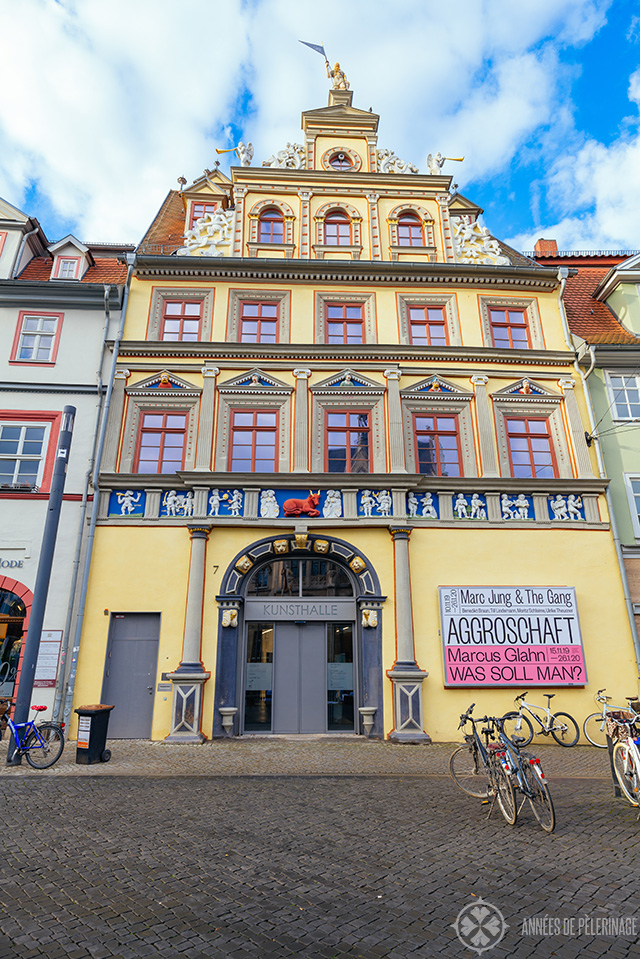 The Kunsthalle Erfurt on the Fischermarket