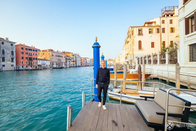 Me on the pier of the aman venice
