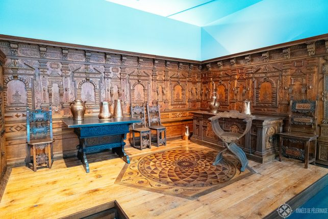 A famous renaissance room in the Angermuseum in Erfurt