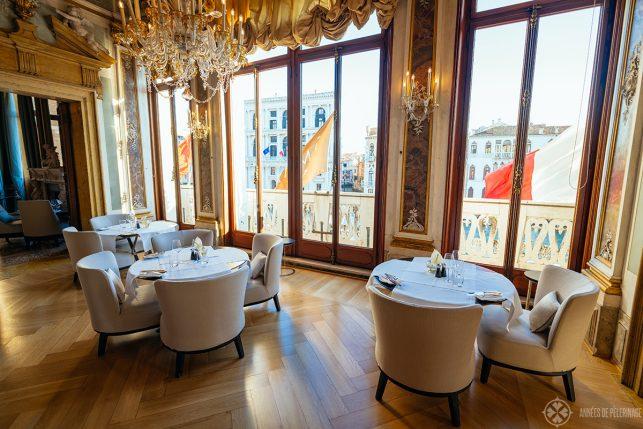 the restaurant of Aman Venice