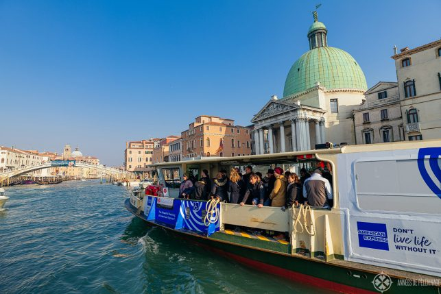 A Vaporetto on the Grand Canal in Venice