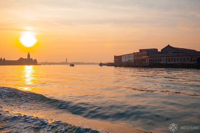 Sunset above Venice from Murano