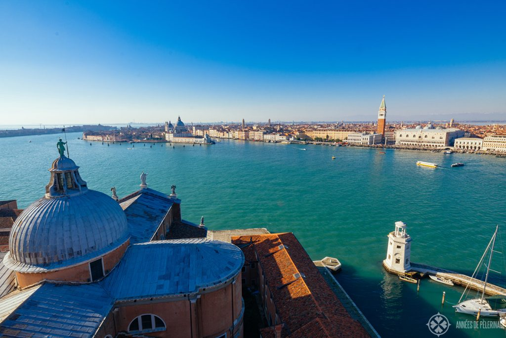 View of Venice from San Giorgio maggiore - you can see the whole city from here
