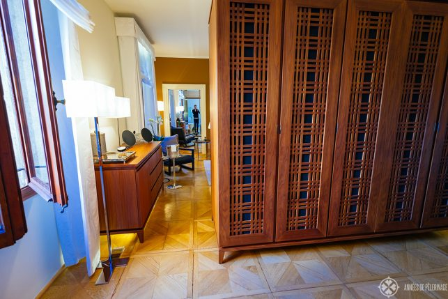 The gigantic closet of my room at the aman venice
