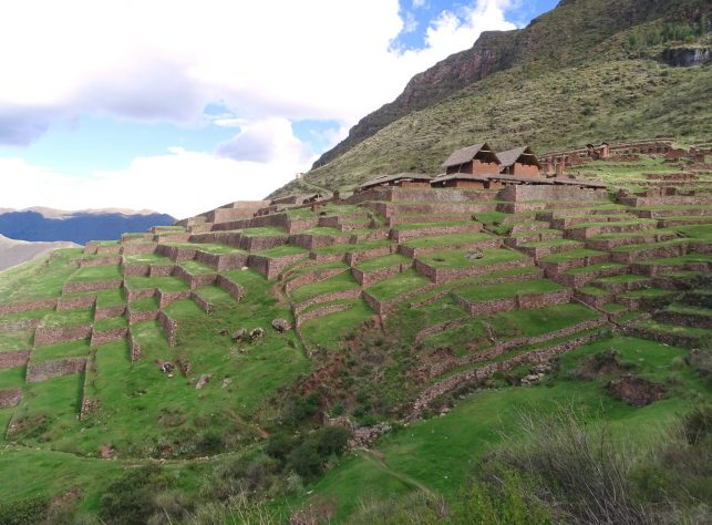 The Inca ruins in Huchuy Qosqo near Cusco, Peru