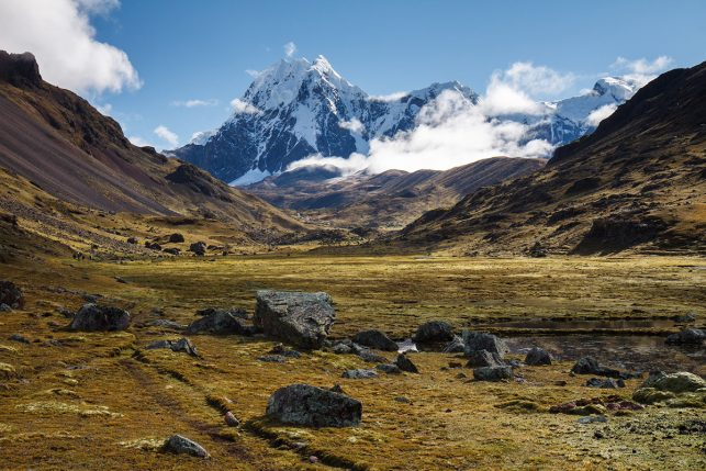 The beautiful Ausangate Mountain - one of the best places to go trekking near Cusco.