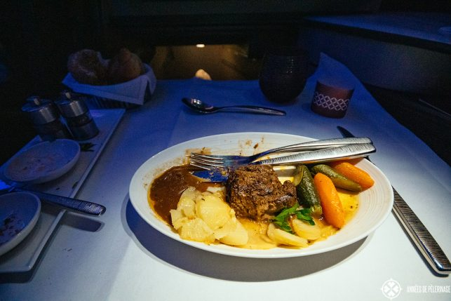 bad food in business class
