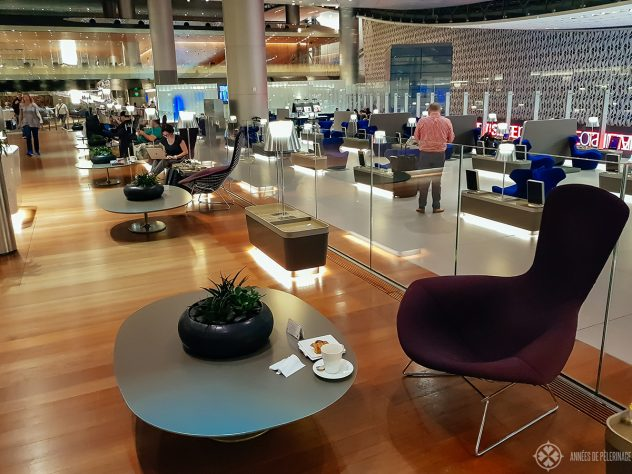 The spectacular business class lounge in qatar