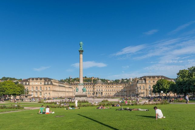The New Palace of Stuttgart and Schlossplatz square
