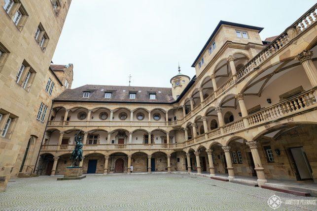 The courtyard inside the old castle in Stuttgart
