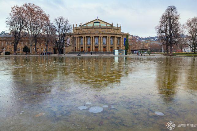 The Staatsoper Stuttgart in winter