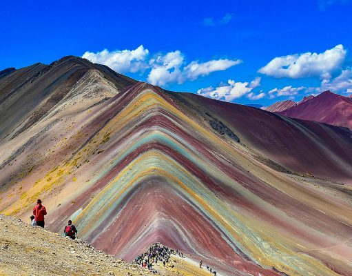 The Rainbow Mountains - one of the best day trips from Cusco and very popular