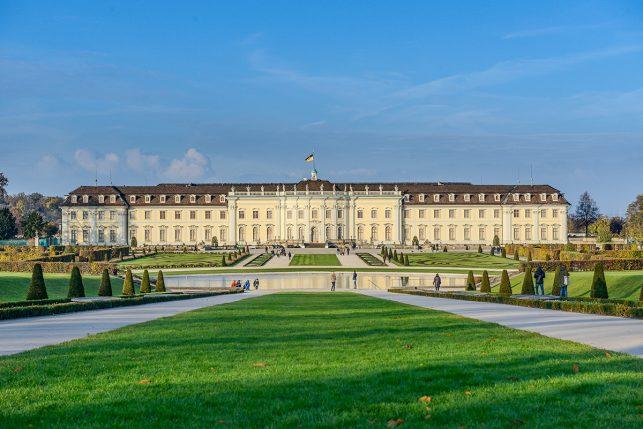 Schloss Ludwigsburg palace near Stuttgart as seen from the park