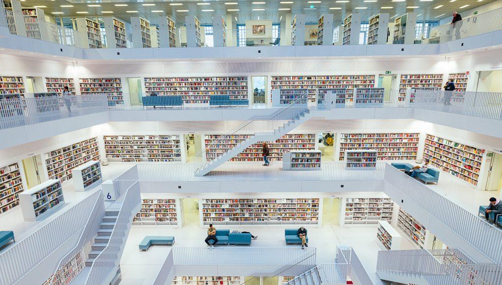 Inside the fantastic public library of Stuttgart