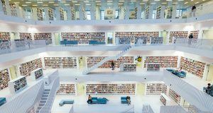 Inside the fantastic public library of Stuttgart