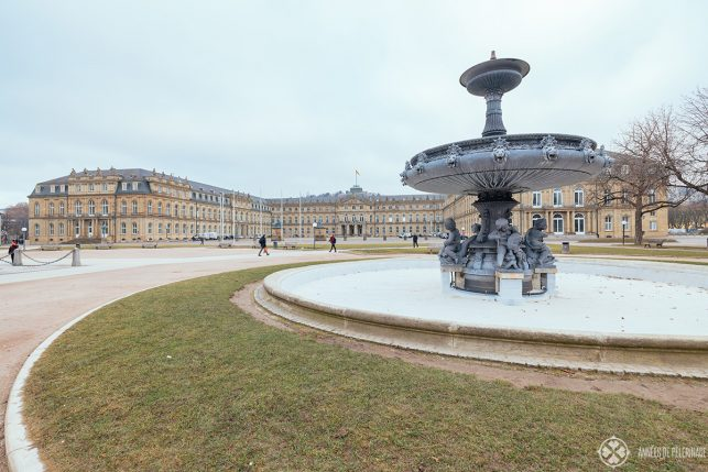 The Schlossplatz (new palace square) in the centre of Stuttgart, Germany