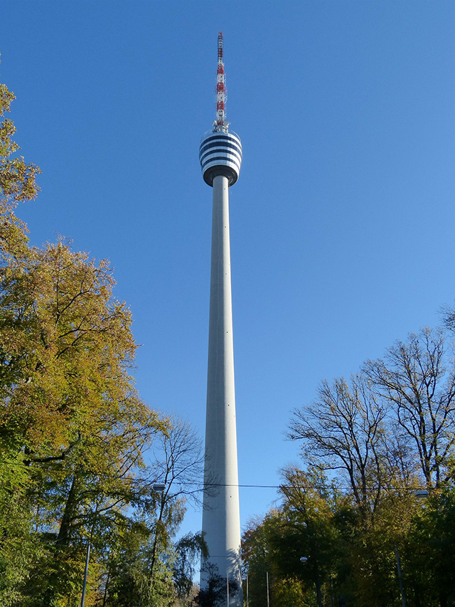 The old Stuttgart Television tower