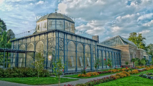 An ancient greenhouse in the Wilhelma zoo in Stuttgart, Germany
