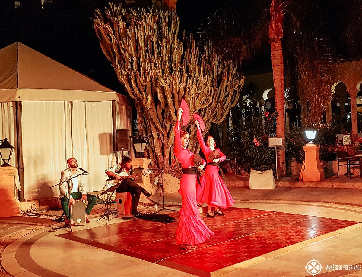 Dancers at a Flamenco show on Teneriffe, Spain