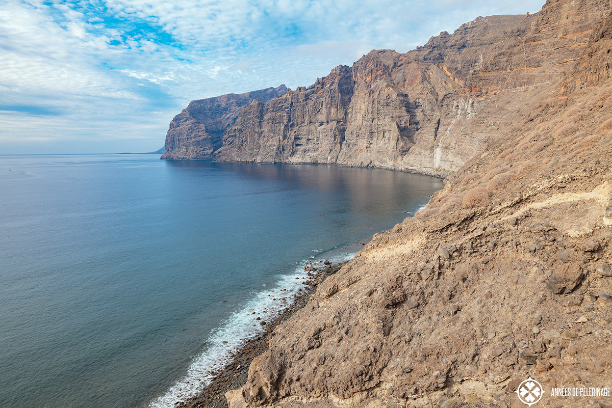 The Los Gigantes cliffs on Teneriffe from the view point in Acantilados