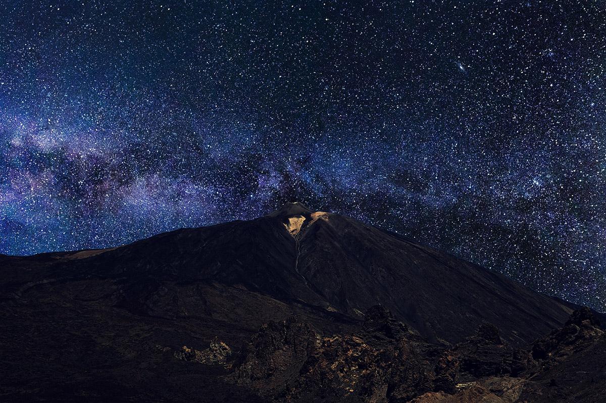 star gazing on tenerife in teide national park