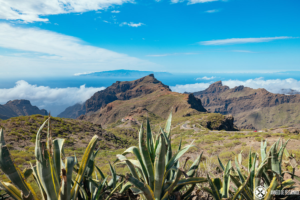 Impressive scenery in the teno mountains in the far east of Tenerife, Spain
